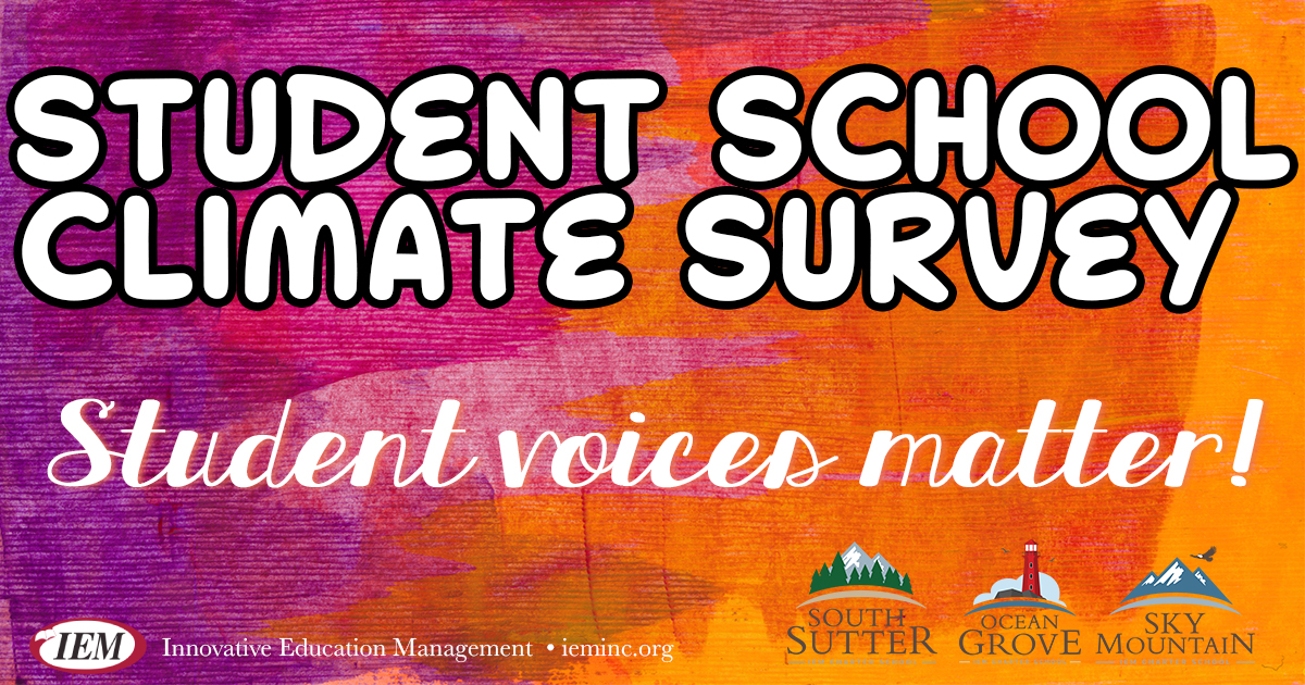 Reminder for Student School Climate Survey for Grades 5, 8, & 12