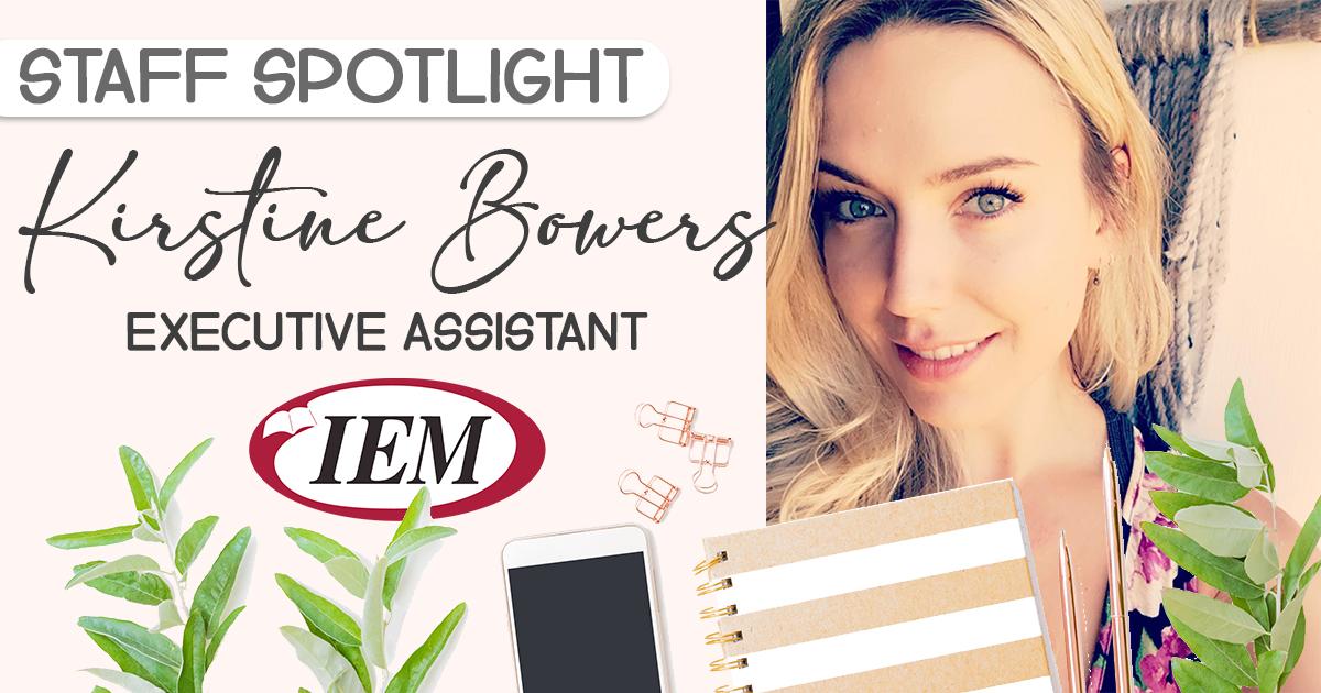 Staff Spotlight: Kirstine Bowers