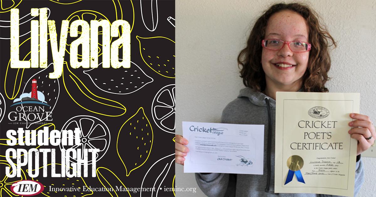 Student Spotlight: Lilyana S.