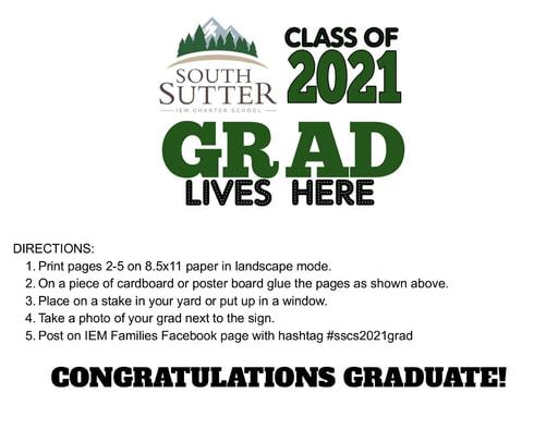 SSCS 2021 Graduate Sign