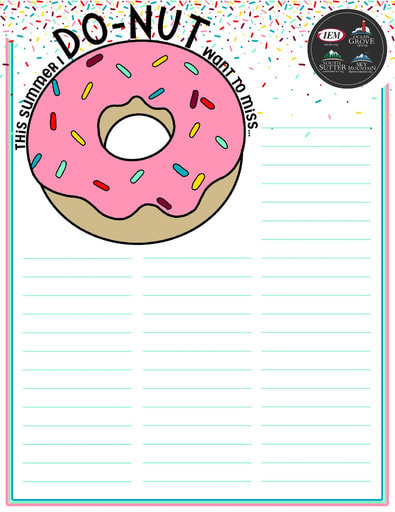 DO-NUT Summer Bucket List (DIY)